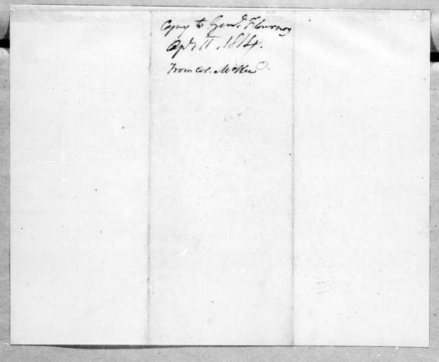 Andrew Jackson to Thomas Flournoy, April 11, 1814