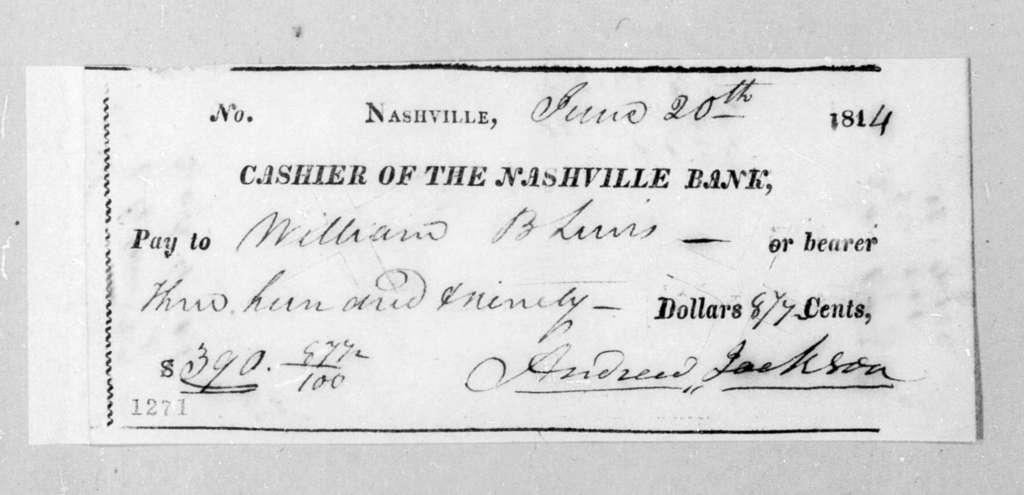 Andrew Jackson to William Berkeley Lewis, June 20, 1814