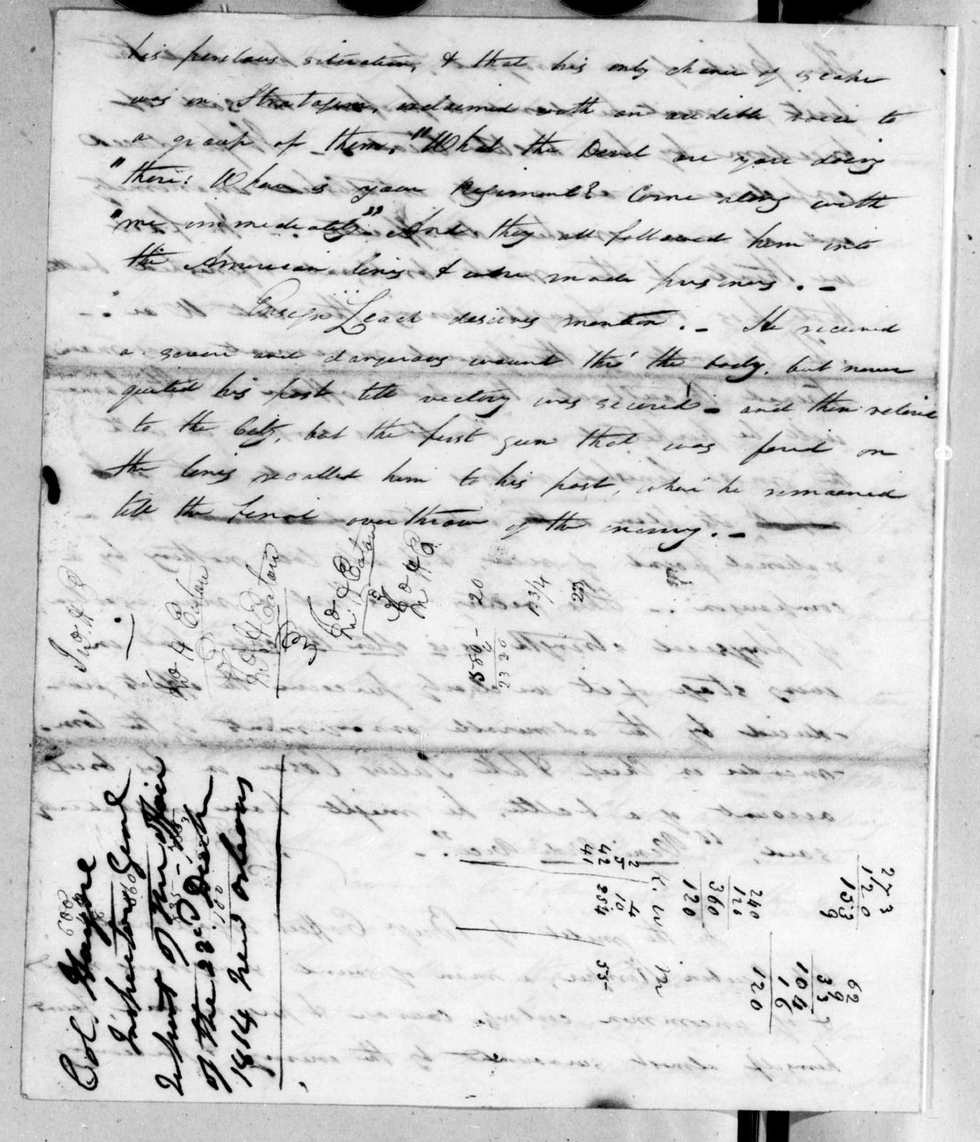 Arthur Peronneau Hayne, December 23, 1814