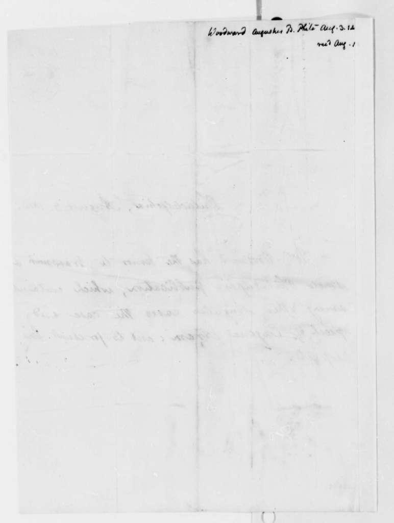 Augustus B. Woodward to Thomas Jefferson, August 3, 1814