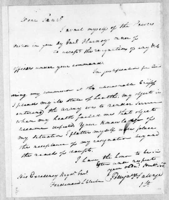 B. F. Salvage to Ferdinand L. Claiborne, February 1, 1814