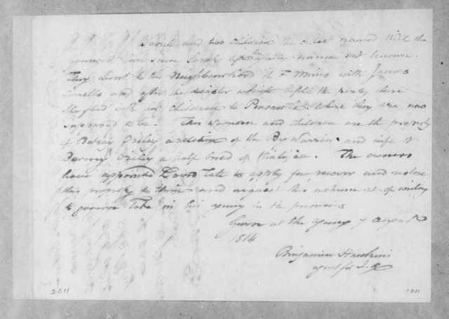 Benjamin Hawkins to David Tate, August 7, 1814