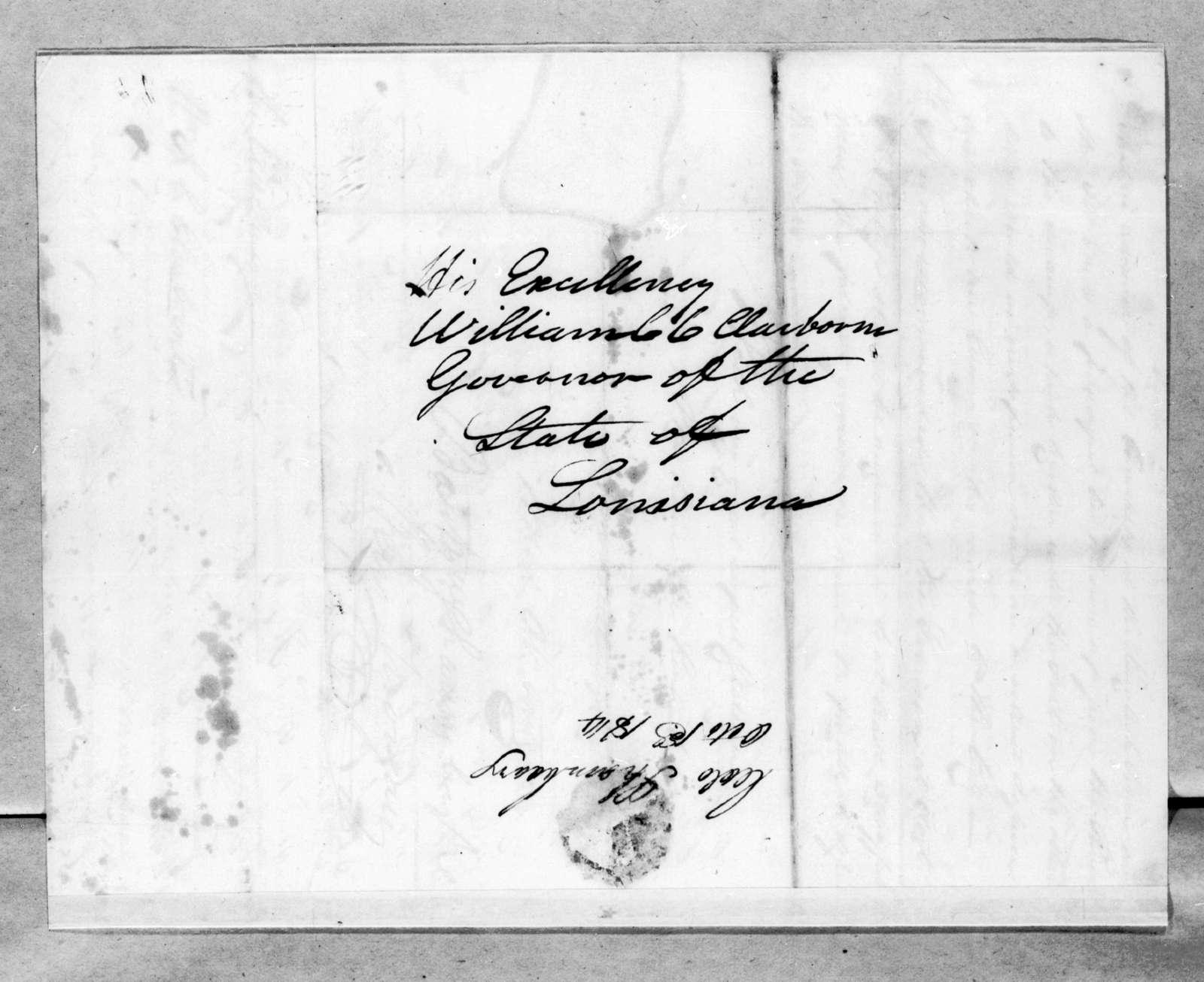 Benjamin Morgan to William Charles Cole Claiborne, October 31, 1814
