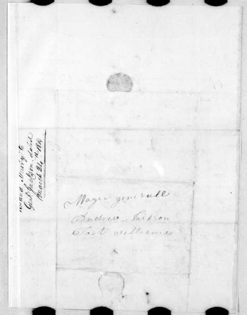 Bland Murry to Andrew Jackson, March 24, 1814