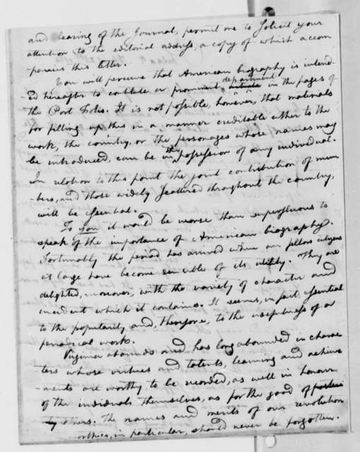 Charles Caldwell to Thomas Jefferson, April 25, 1814