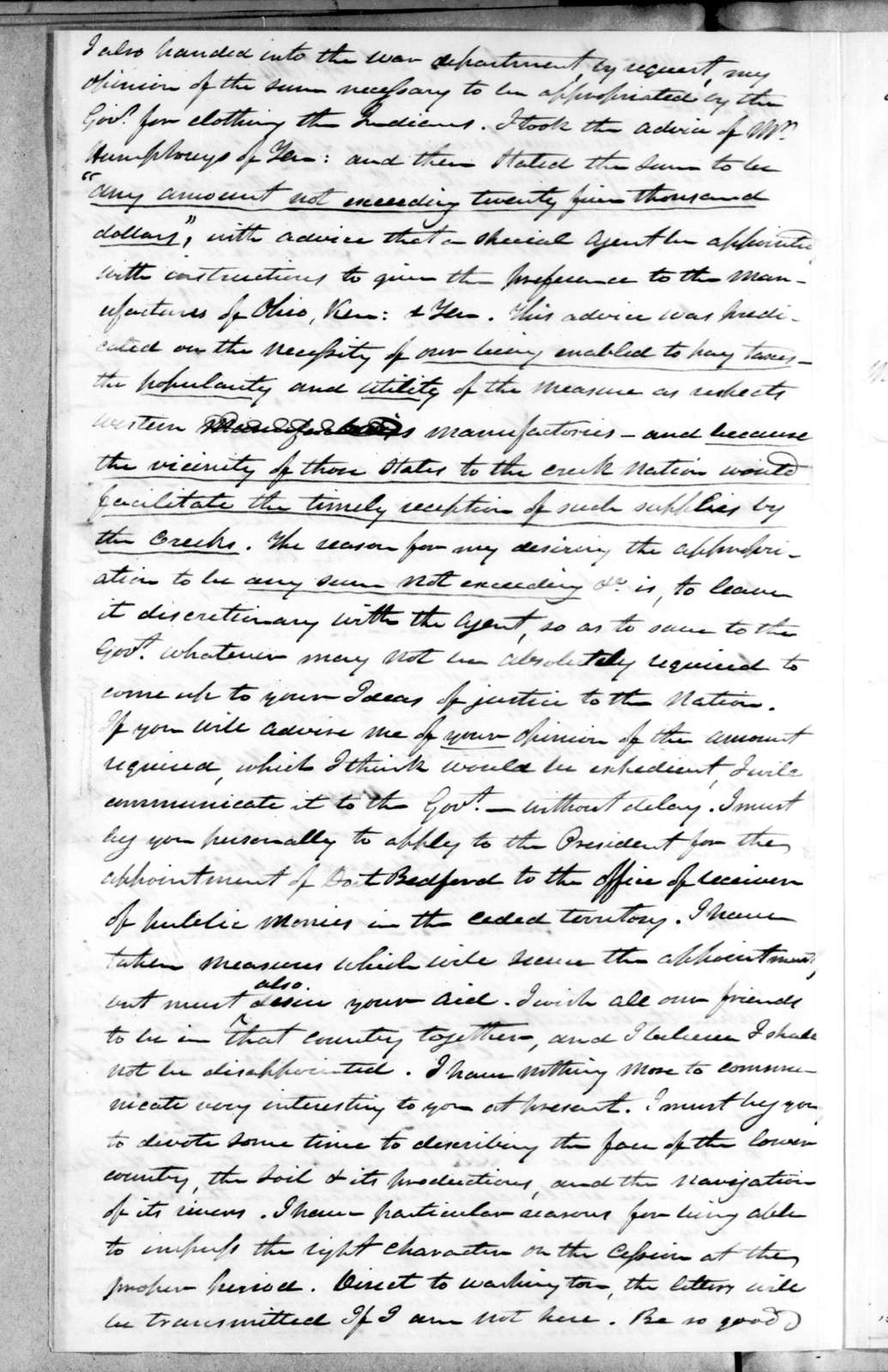 Charles Cassedy to Andrew Jackson, September 23, 1814
