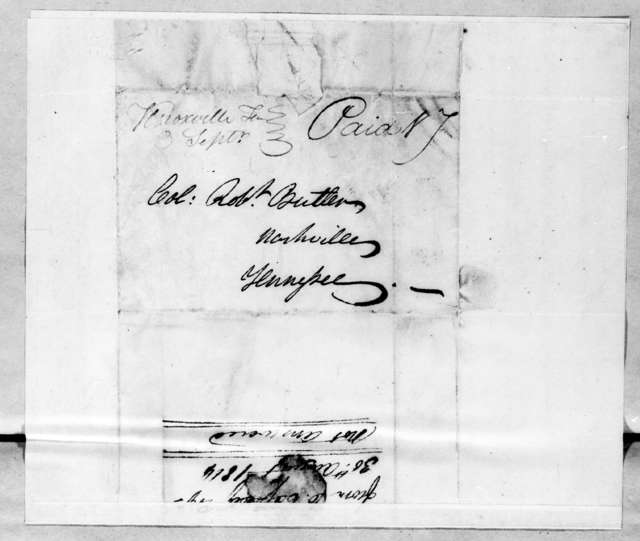 Charles Cassedy to Robert Butler, August 30, 1814