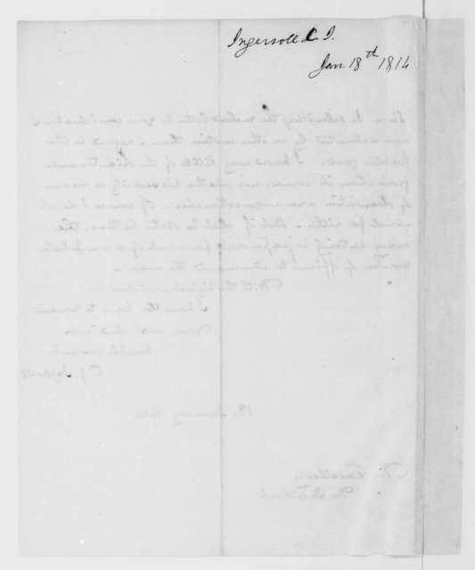 Charles J. Ingersoll to James Madison, January 18, 1814.