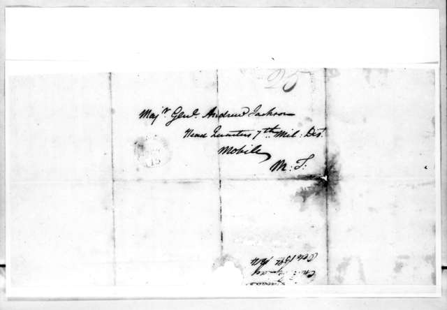 Charles W. Cassedy to Andrew Jackson, October 15, 1814