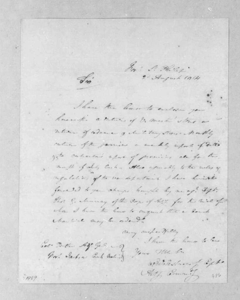 Charles Wollstonecraft to Robert Butler, August 2, 1814