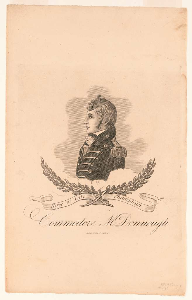 Commodore McDonnaugh heroe of Lake Champlain designd & acquatinted by W. Strickland