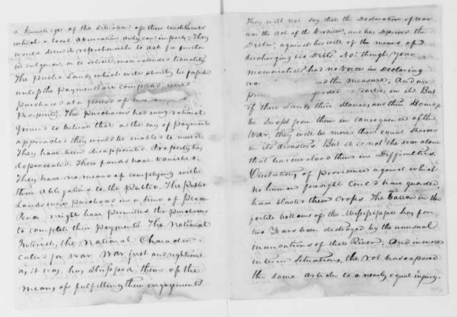 Daniel Burnet to U. S. Congress, January 11, 1814. Memorial of the Mississippi Territory General Assembly.