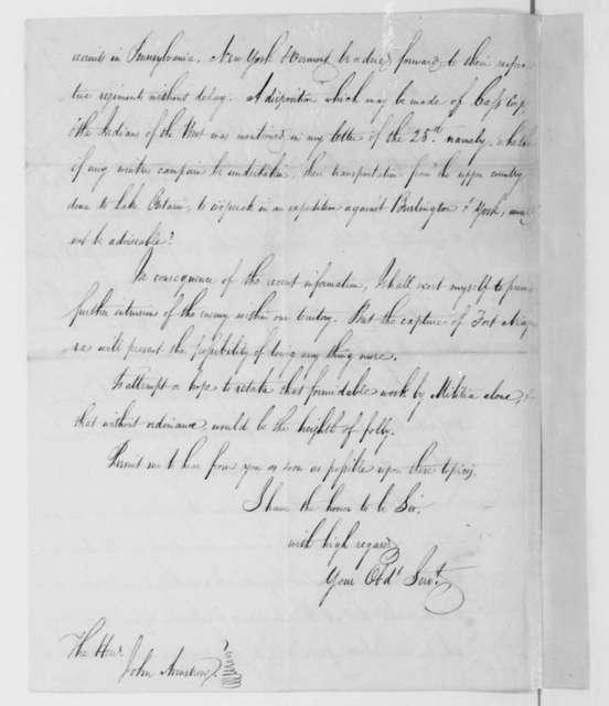 Daniel D. Tompkins to John Armstrong, January 2, 1814.