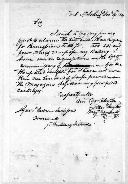 Daniel Hughes to Andrew Jackson, December 19, 1814