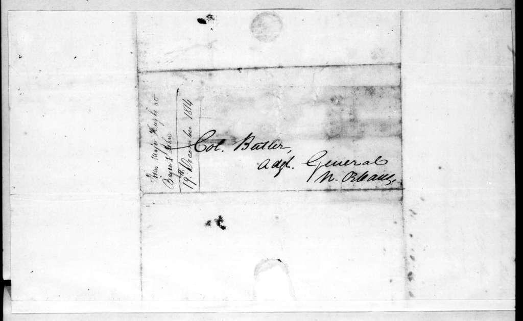Daniel Hughes to Robert Butler, December 19, 1814
