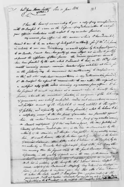 David B. Warden to James Monroe, June 10, 1814