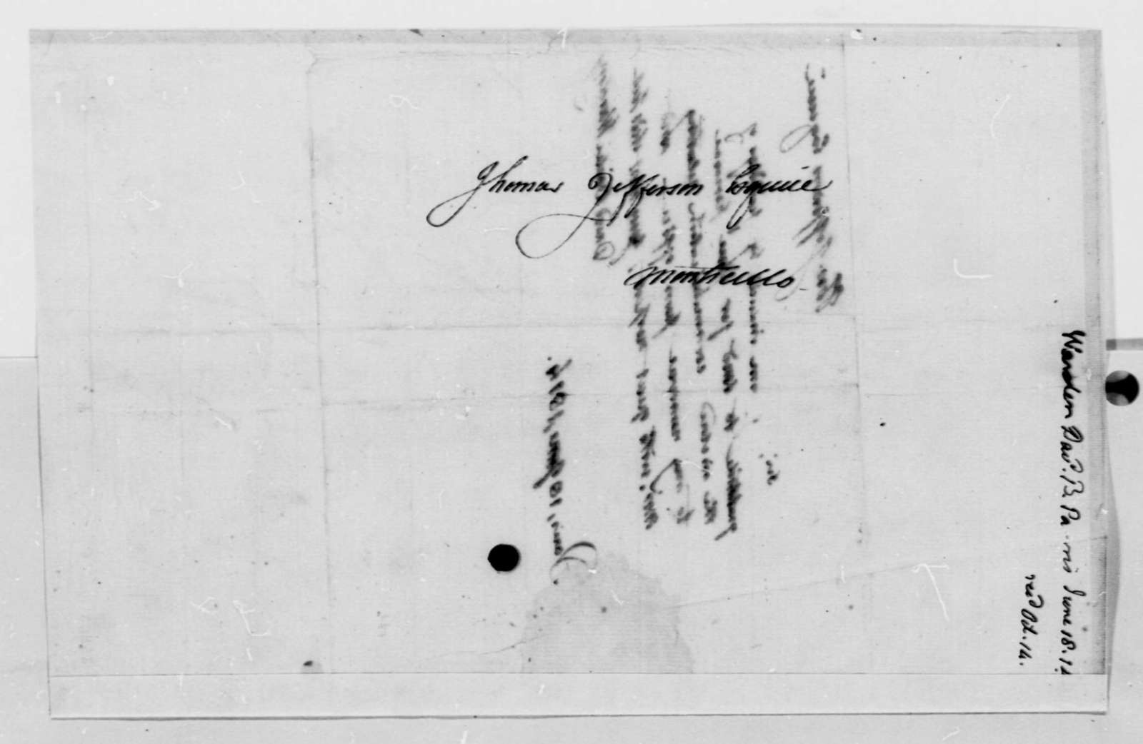 David B. Warden to Thomas Jefferson, June 18, 1814