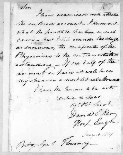 David C. Kerr to Thomas Flournoy, January 16, 1814