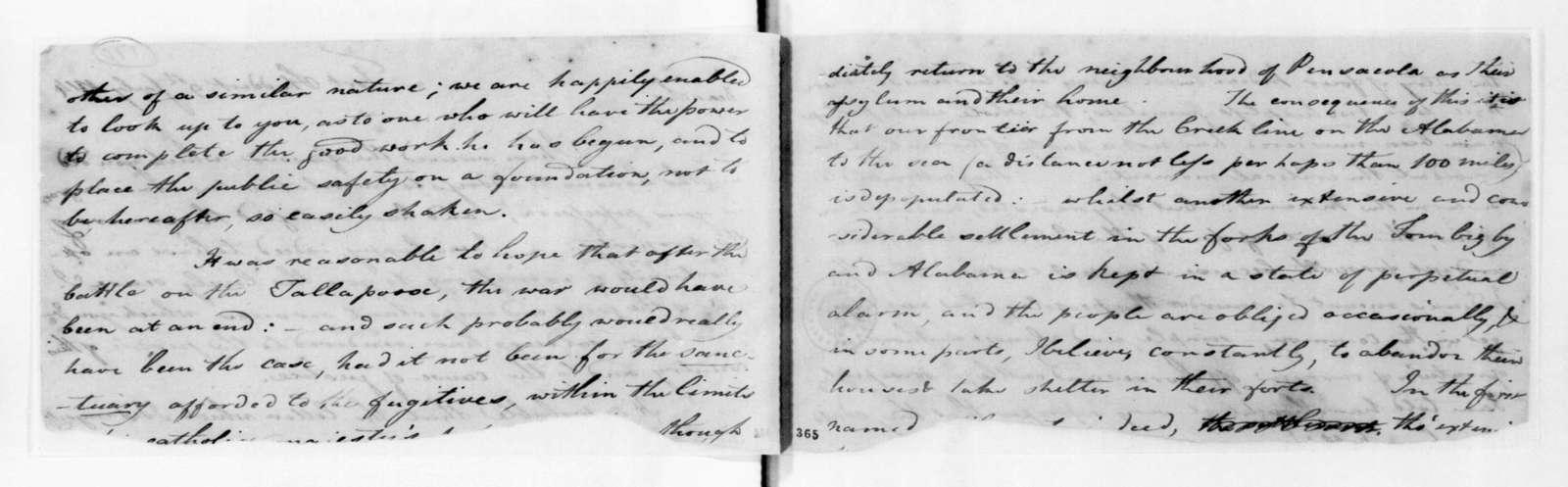 David Holmes to Andrew Jackson, July 9, 1814