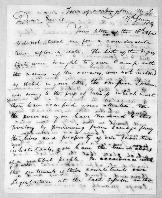 David Holmes to Andrew Jackson, June 19, 1814