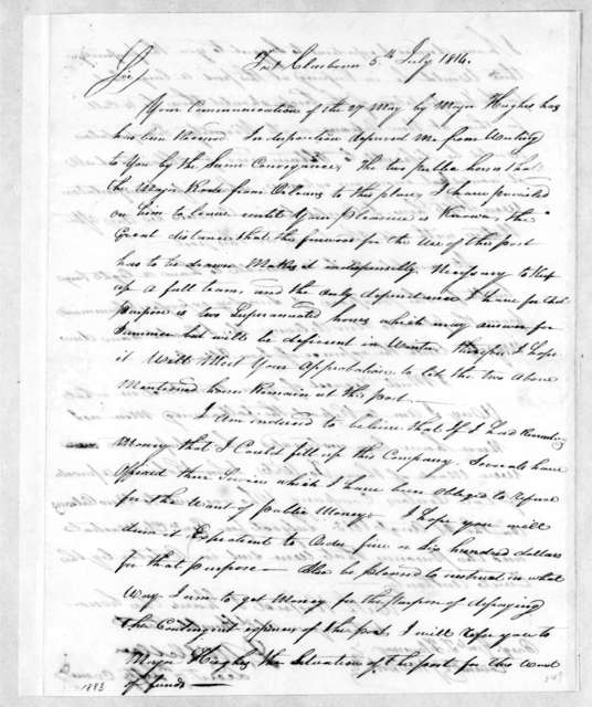 David McClellan to Thomas Flournoy, July 5, 1814