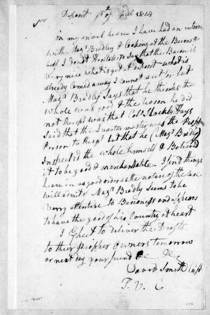 David Smith to Andrew Jackson, April 5, 1814