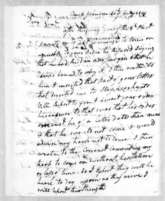 David Smith to Andrew Jackson, February 26, 1814
