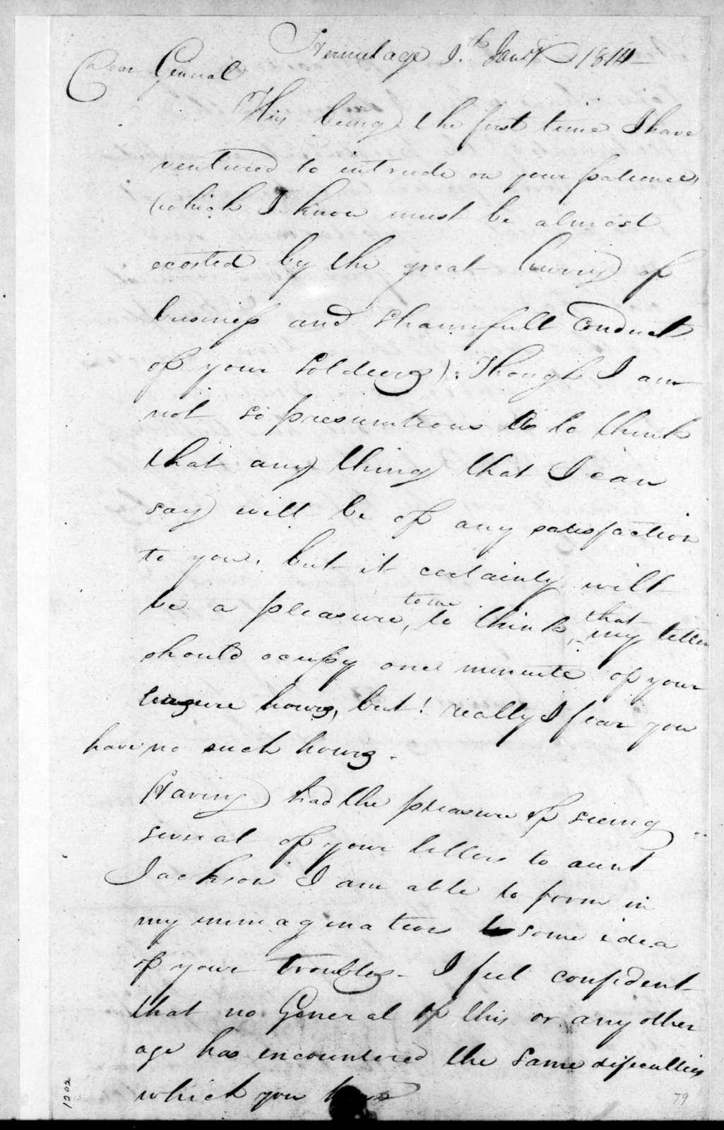 David V. Walker to Andrew Jackson, January 9, 1814