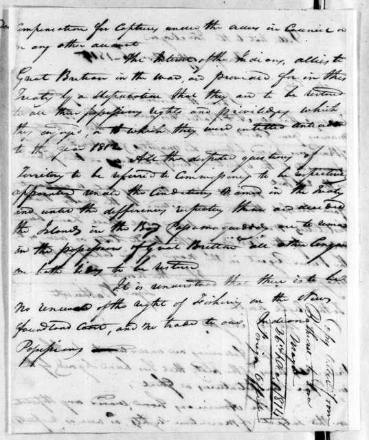 E. Bathurst to Nicholas Girod, December 26, 1814