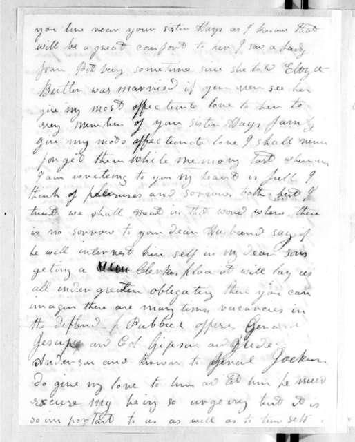 E. C. Watson to Rachel Donelson Jackson, August 22, 1814