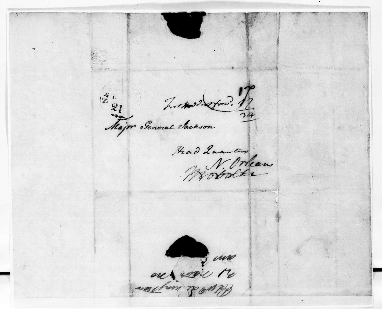 Edward Livingston to Andrew Jackson, November 21, 1814