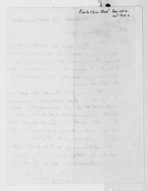 Elias Earle to Thomas Jefferson, January 28, 1814