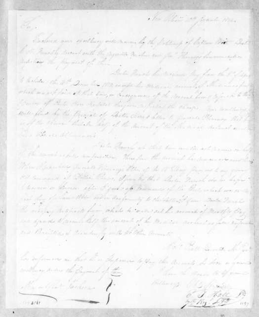 Elisha T. Hall to Andrew Jackson, September 10, 1814
