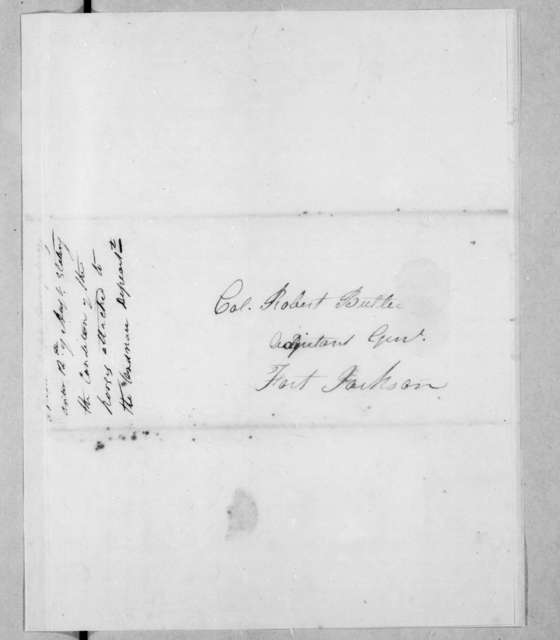 Enoch Humphrey to Robert Butler, August 12, 1814