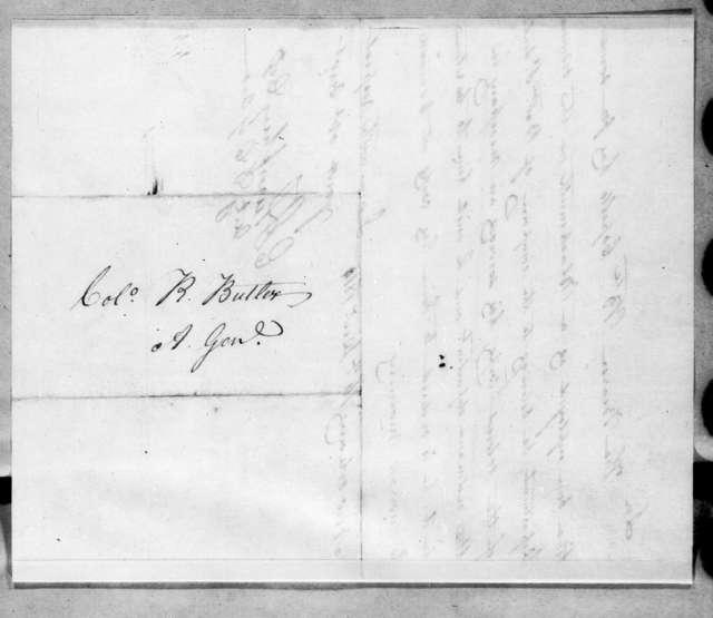 Enoch Humphrey to Robert Butler, December 16, 1814