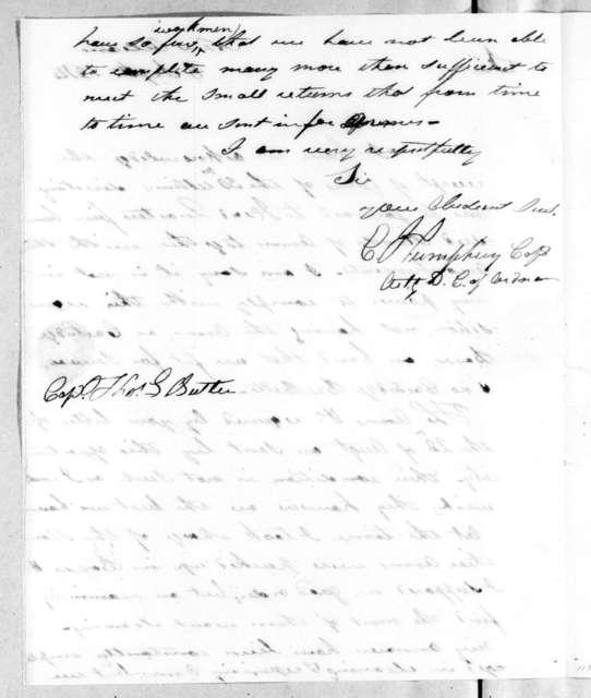 Enoch Humphrey to Thomas Langford Butler, September 6, 1814