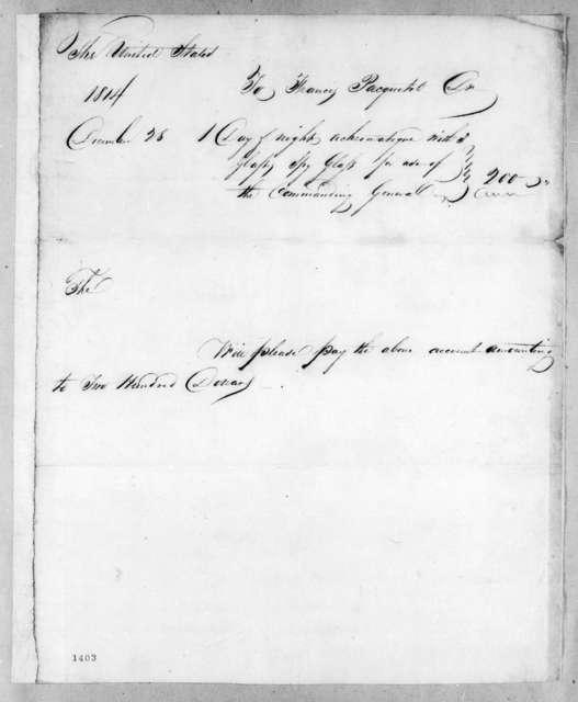 Francis Pacquetel, December 28, 1814