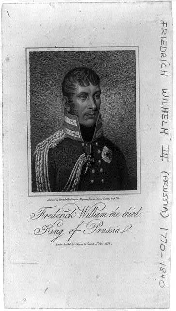 Frederick William the third, King of Prussia