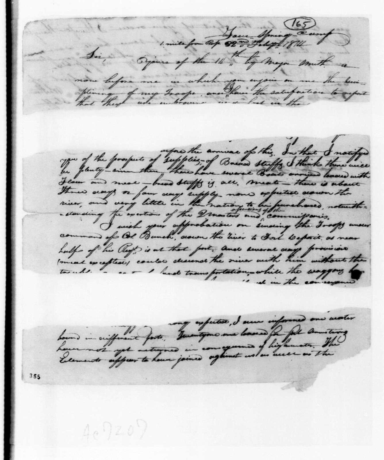 George Doherty to Andrew Jackson
