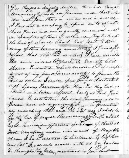 George Doherty to Andrew Jackson, March 6, 1814