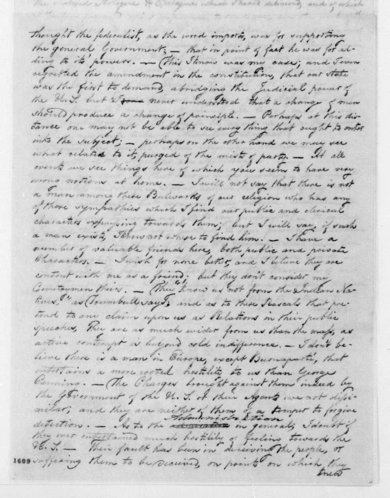 George Joy to J. T. Kirkland, December, 1814.