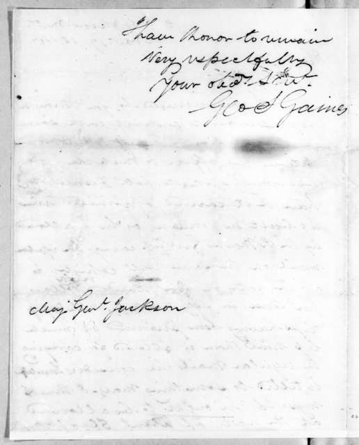 George Strother Gaines to Andrew Jackson, November 17, 1814
