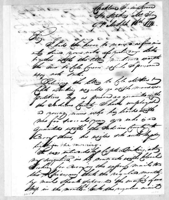 George Strother Gaines to Andrew Jackson, September 16, 1814