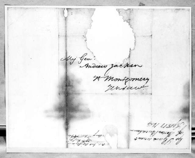 George Strother Gaines to Andrew Jackson, September 17, 1814