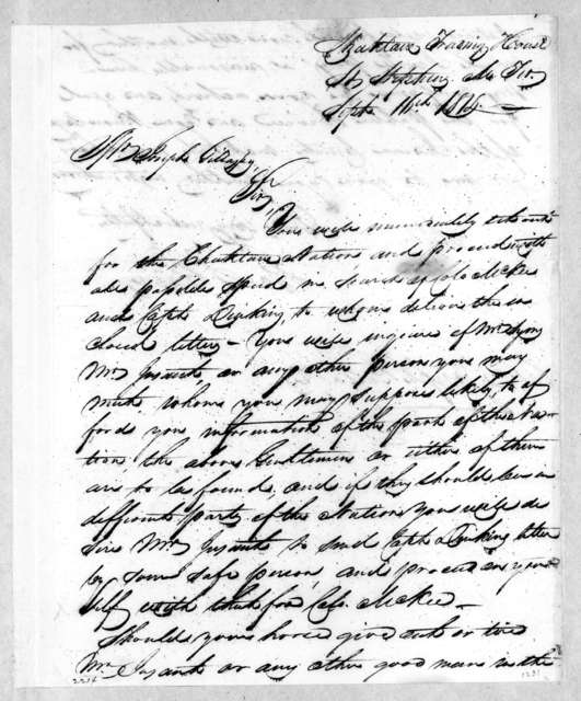 George Strother Gaines to Mrs. Joseph Gillaspy, September 16, 1814