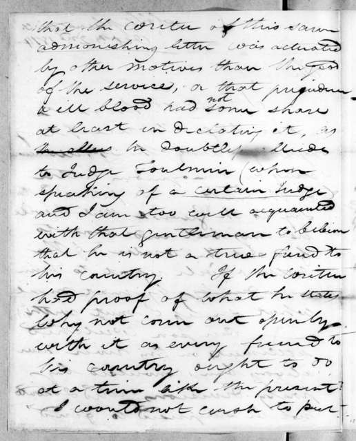 George Strother Gaines to Thomas Langford Butler, October 2, 1814