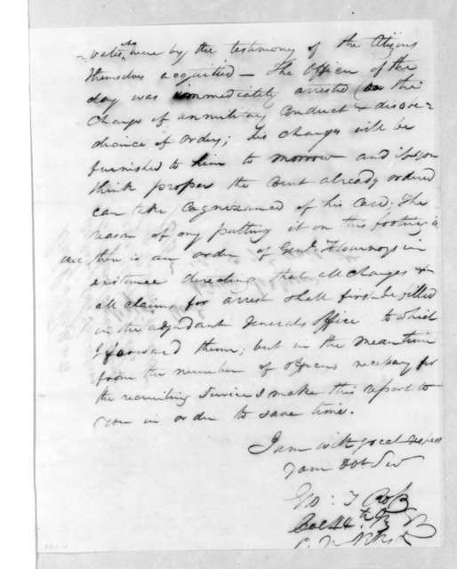 George Thompson Ross to Andrew Jackson, August 15, 1814