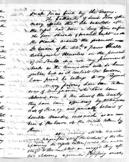 George Thompson Ross to Andrew Jackson, October 3, 1814