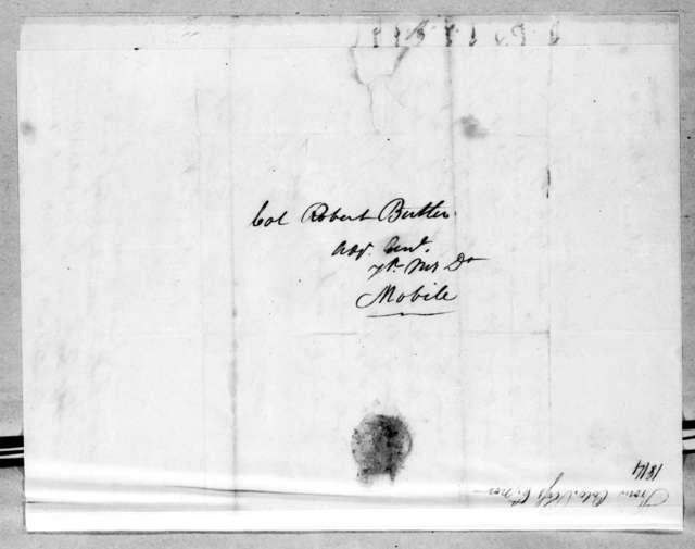 George Thompson Ross to Robert Butler, November 6, 1814