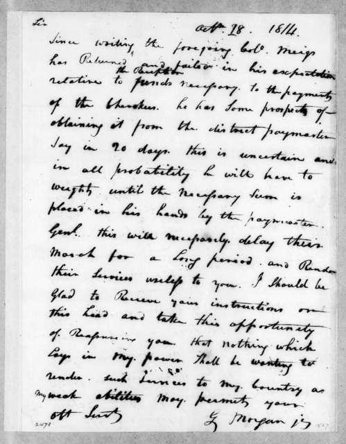 Gideon Morgan to Unknown, October 18, 1814